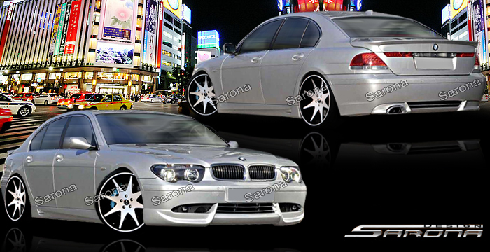 Custom BMW 7 Series Body Kit  Sedan (2002 - 2005) - $1290.00 (Manufacturer Sarona, Part #BM-043-KT)